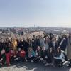 Widok z winnic na Pragę