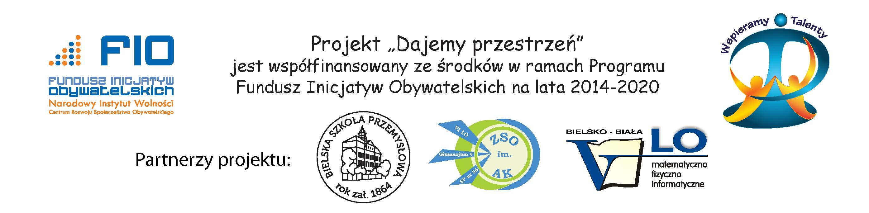 Logo FIO WT i partnerów