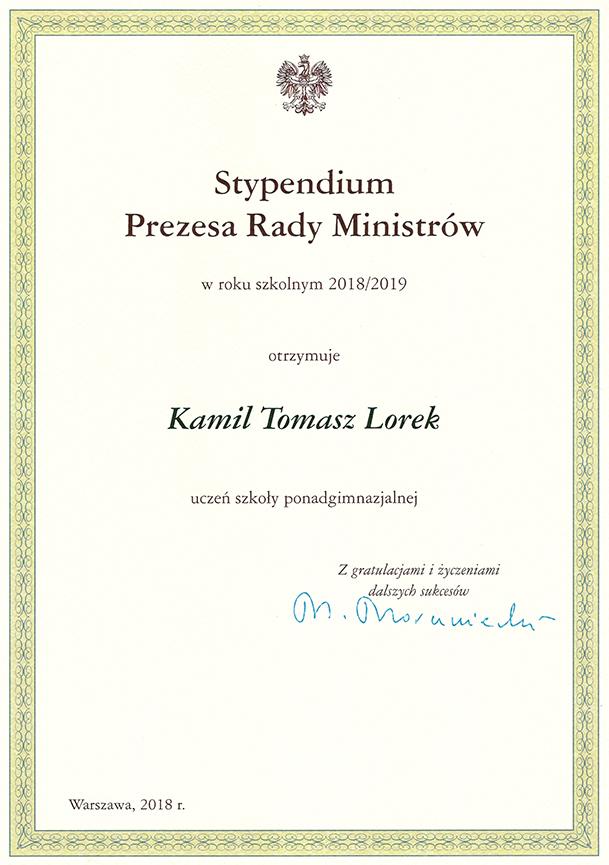 stypendium_prm_2018_kamil_lorek_3tg_