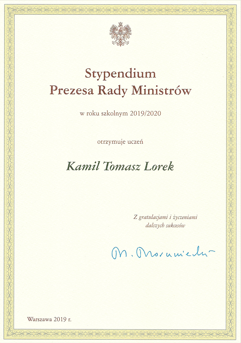 Skan Stypendium